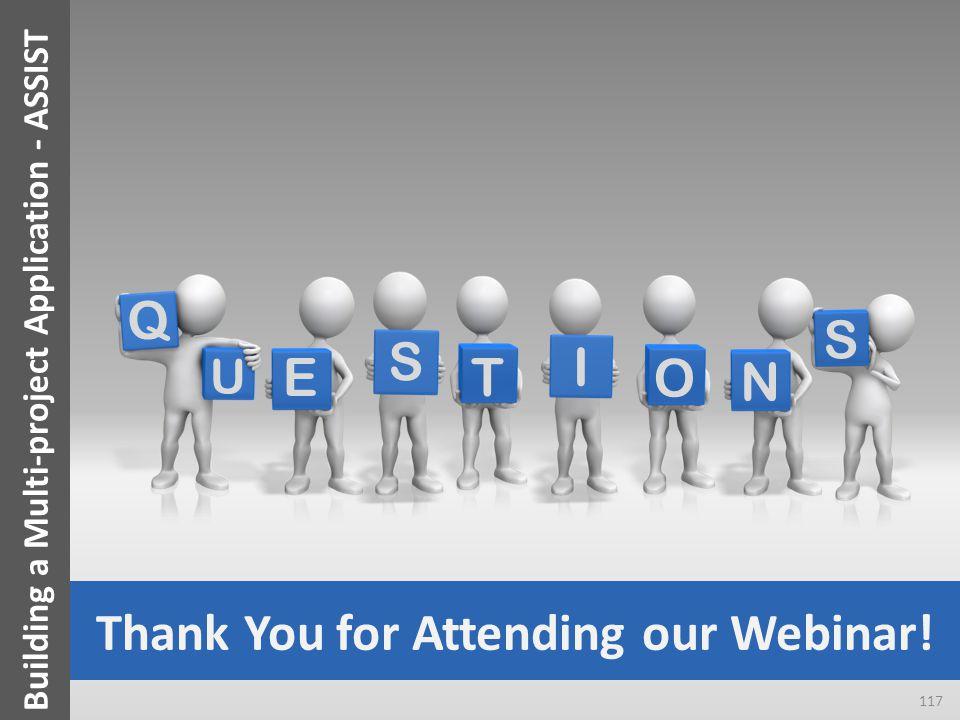 Q U T E S I O S N Thank You for Attending our Webinar.