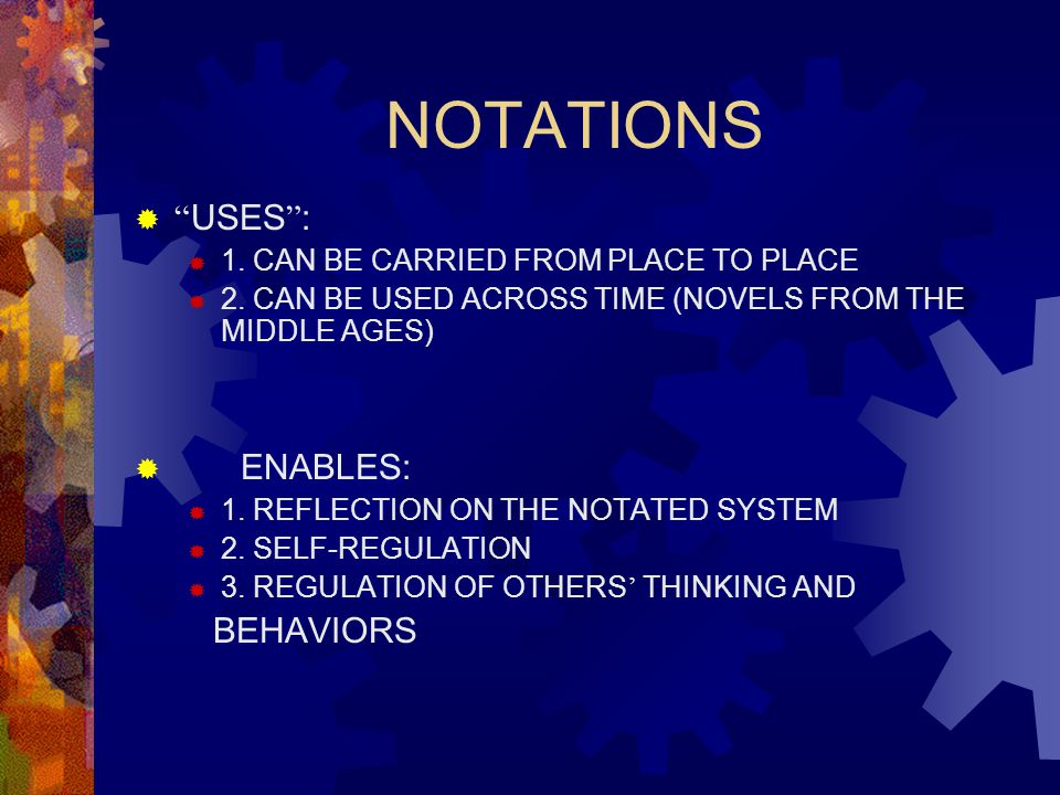 NOTATIONS  USES :  1.CAN BE CARRIED FROM PLACE TO PLACE  2.