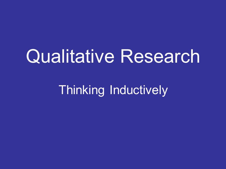 Quantitative Research Qualitative Research