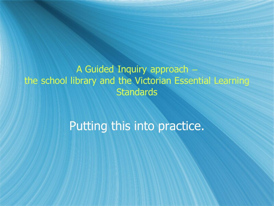 How do we implement these multiple modes of inquiry in our school libraries.