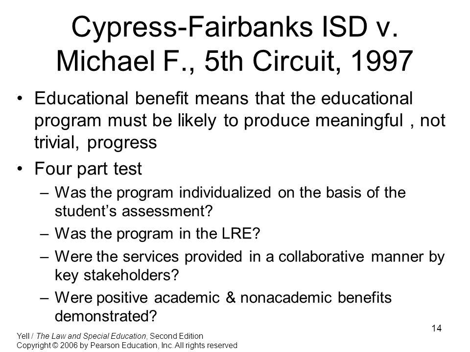 14 Cypress-Fairbanks ISD v.