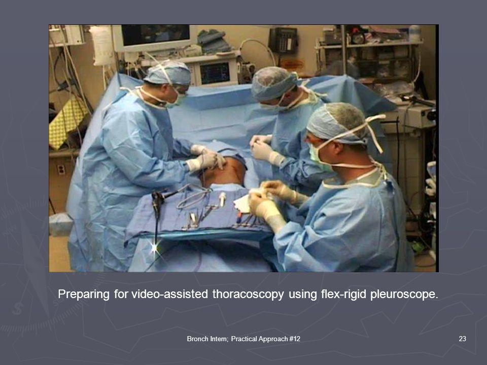 Bronch Intern; Practical Approach #1223 Preparing for video-assisted thoracoscopy using flex-rigid pleuroscope.