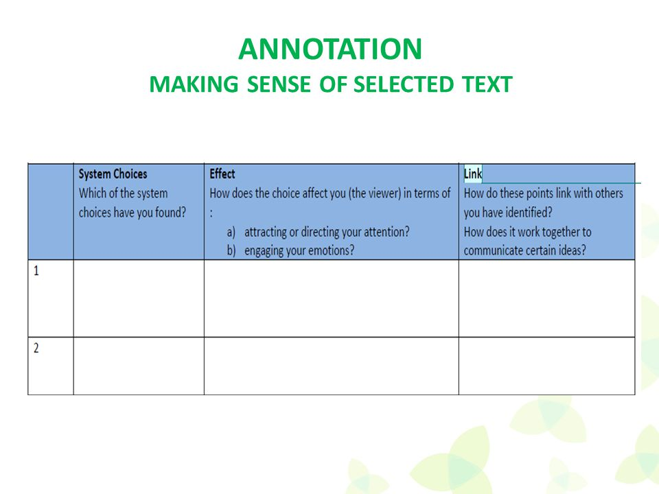 ANNOTATION MAKING SENSE OF SELECTED TEXT