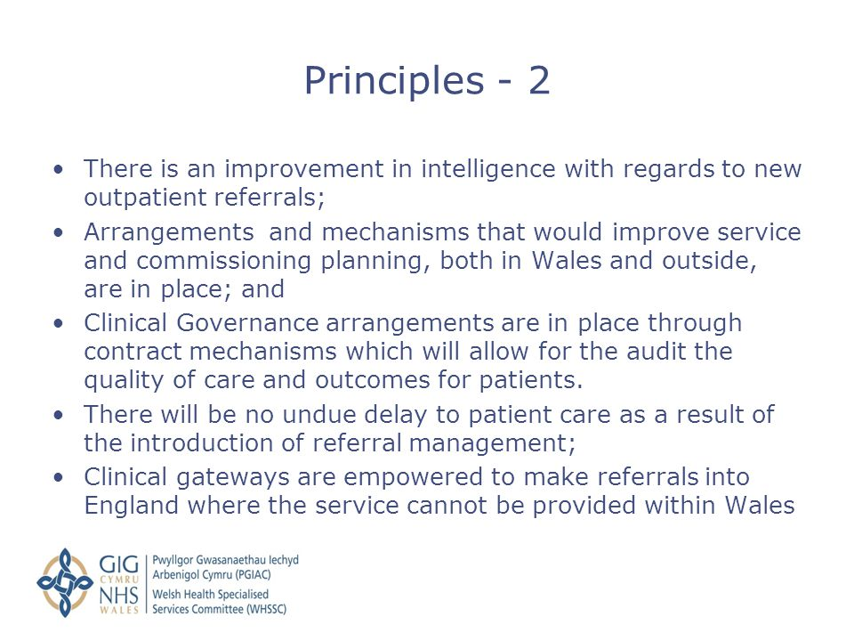 There is an improvement in intelligence with regards to new outpatient referrals; Arrangements and mechanisms that would improve service and commissio
