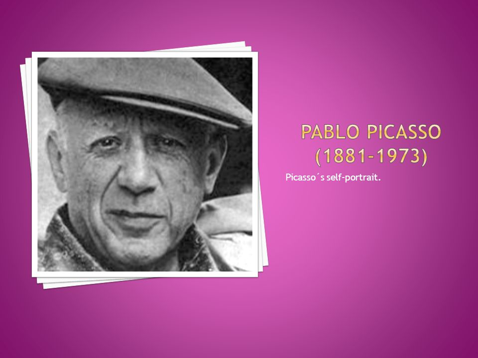 Picasso´s self-portrait.