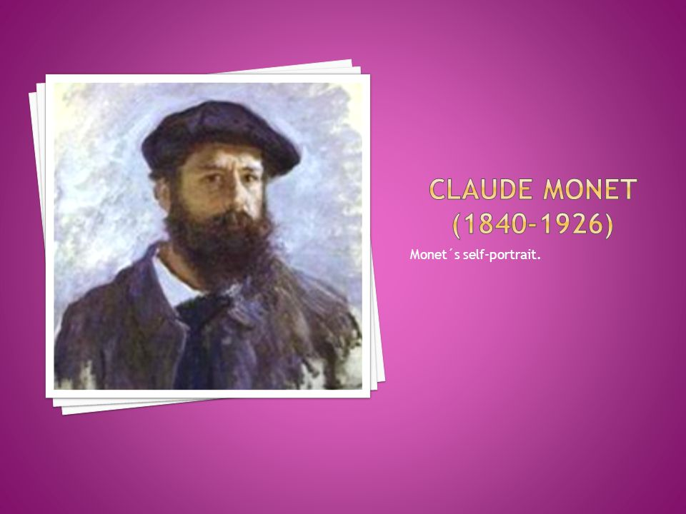 Monet´s self-portrait.