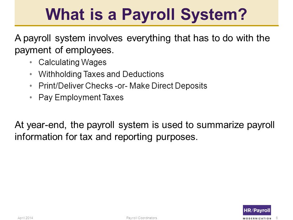 What is a Payroll System.
