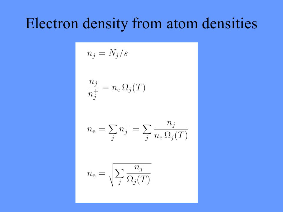 Electron density from atom densities