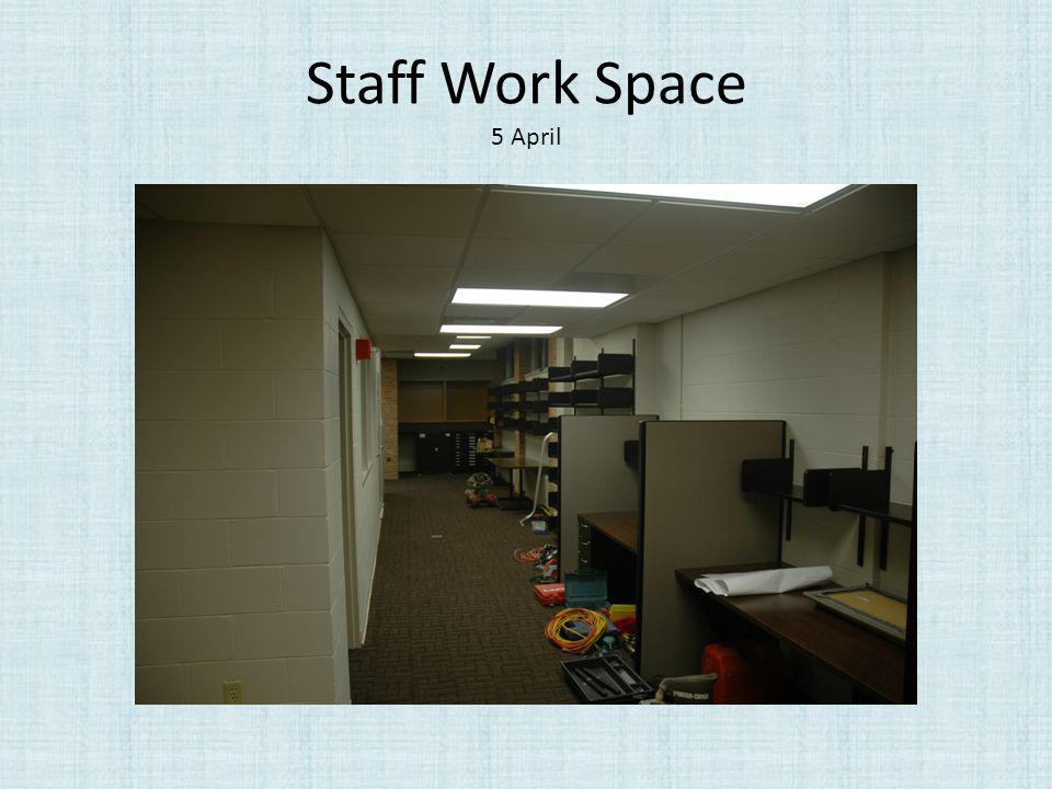 Staff Work Space 5 April