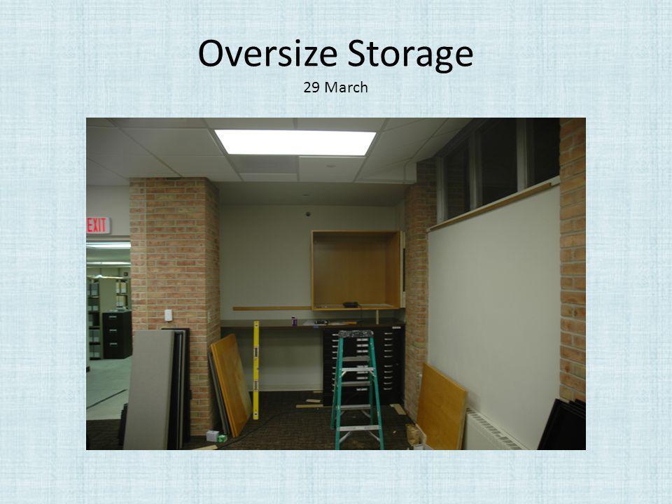 Oversize Storage 29 March