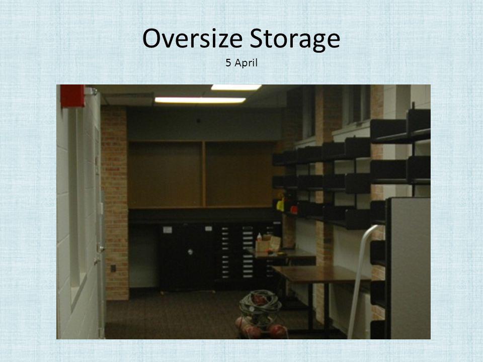 Oversize Storage 5 April