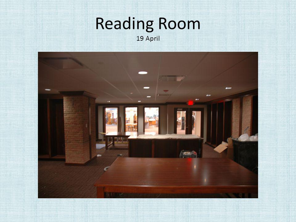 Reading Room 19 April