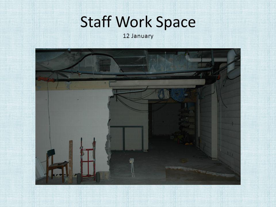 Staff Work Space 12 January
