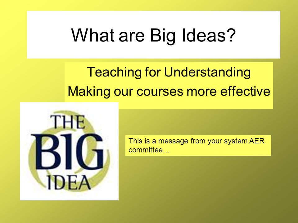 What is a Big Idea.