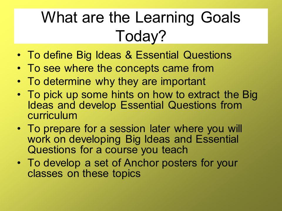 Big Idea checklist continued… 6.