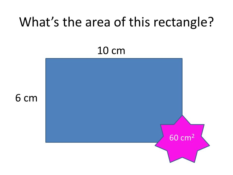 What's the area of the red triangle? 10 cm 6 cm 30 cm 2