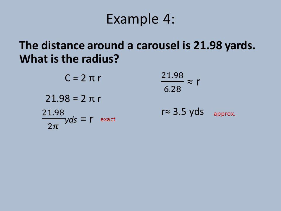 Finding the Area Area= π * radius 2 7cm