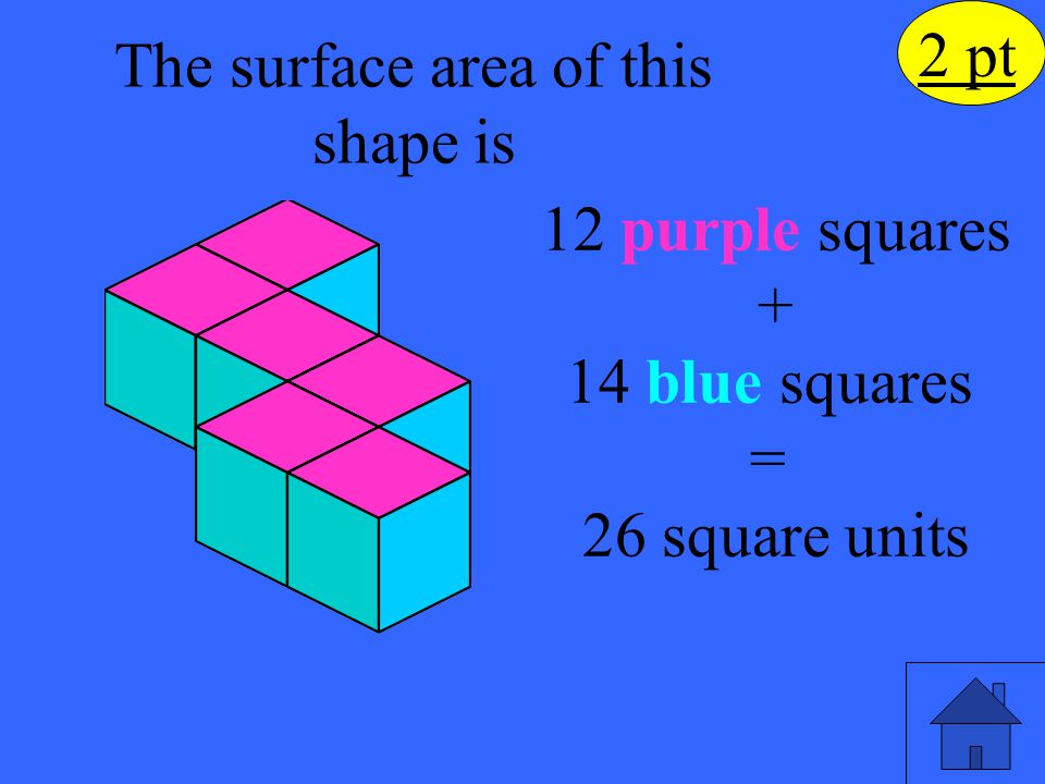 If the rectangle below was filled with cubes 7 levels high, what would be the total volume.