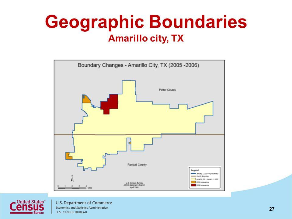 Geographic Boundaries Amarillo city, TX 27