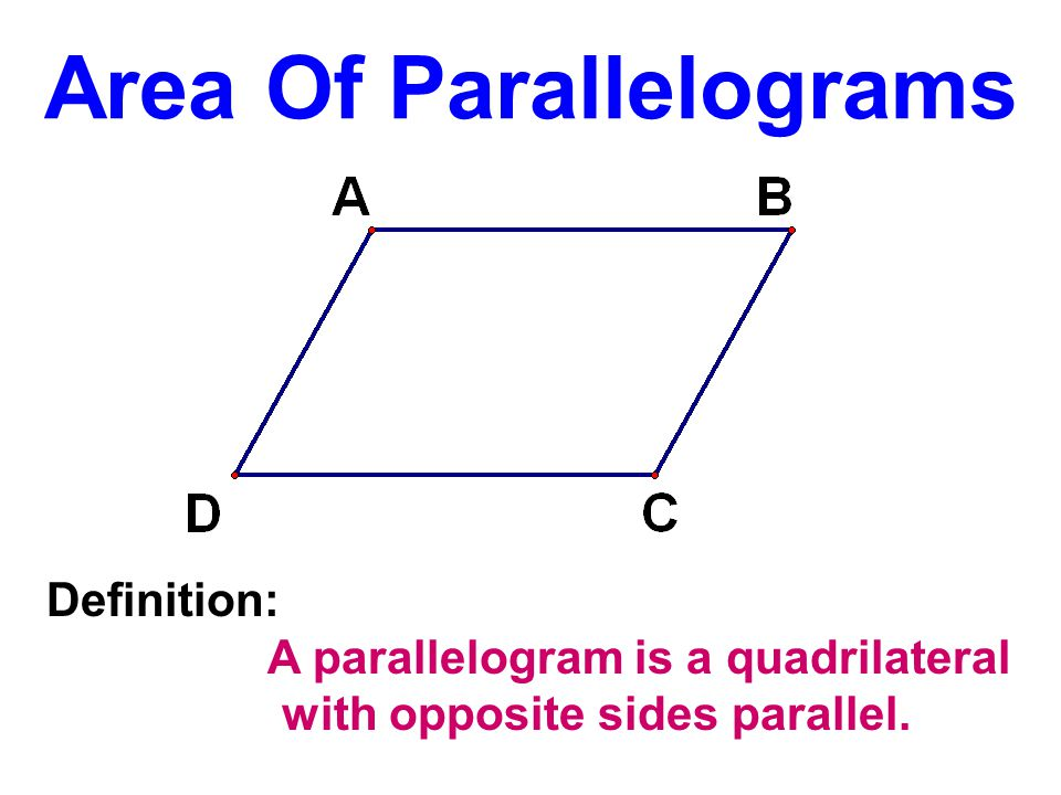 AAS Opposite sides of a parallelogram are congruent.
