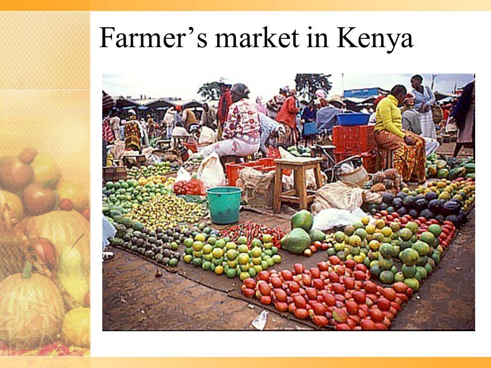 Farmer's market in Kenya