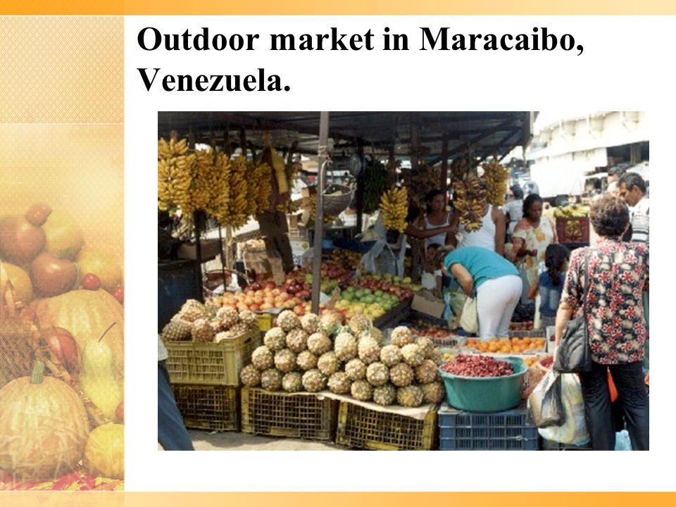 Outdoor market in Maracaibo, Venezuela.