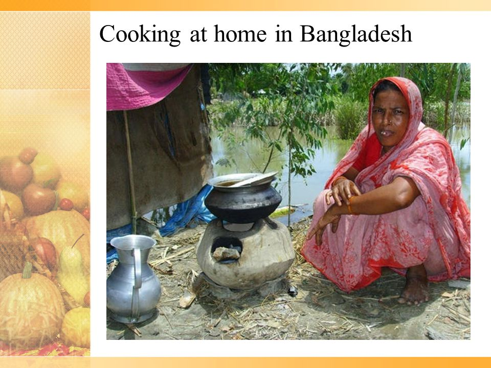 Cooking at home in Bangladesh