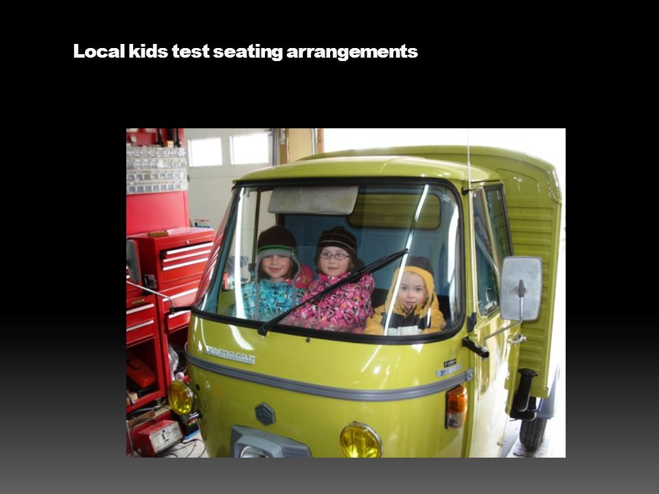 Local kids test seating arrangements