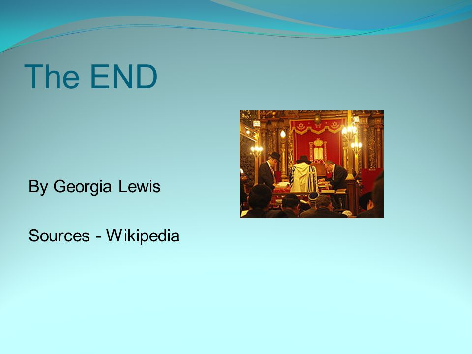 The END By Georgia Lewis Sources - Wikipedia