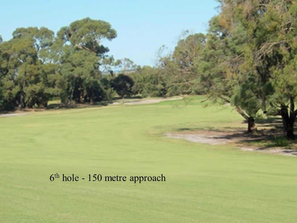 6 th hole - 150 metre approach