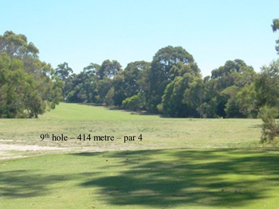 9 th hole – 414 metre – par 4