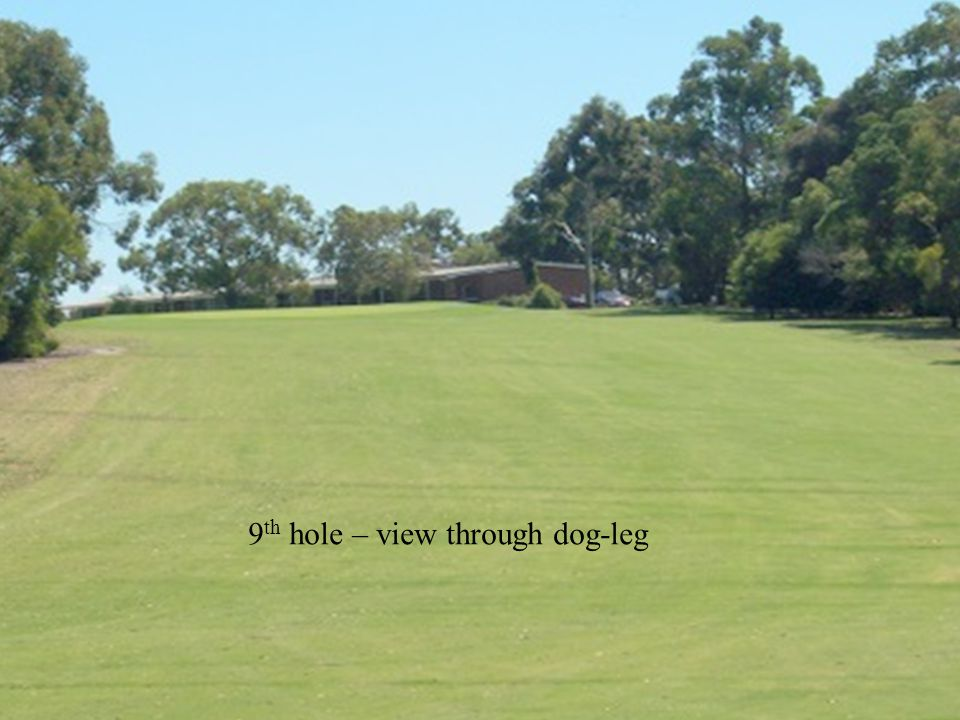 9 th hole – view through dog-leg