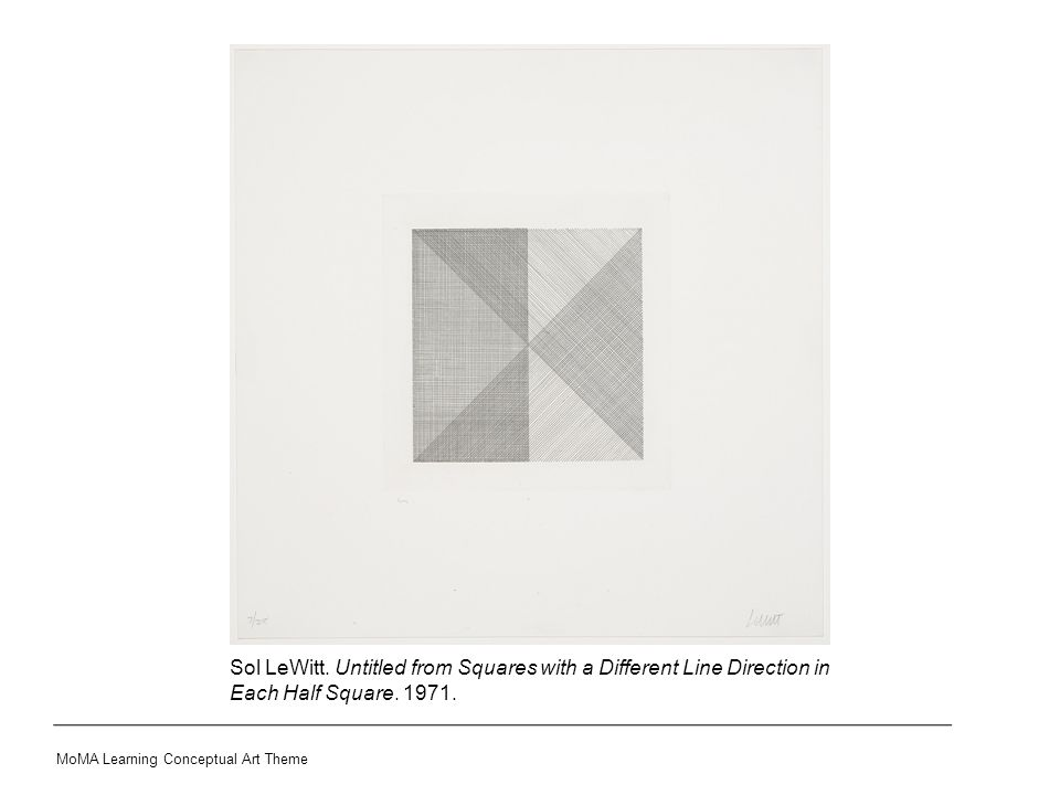 MoMA Learning Conceptual Art Theme