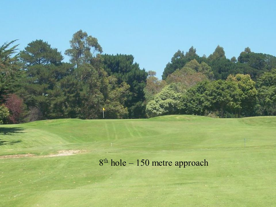 8 th hole – 150 metre approach