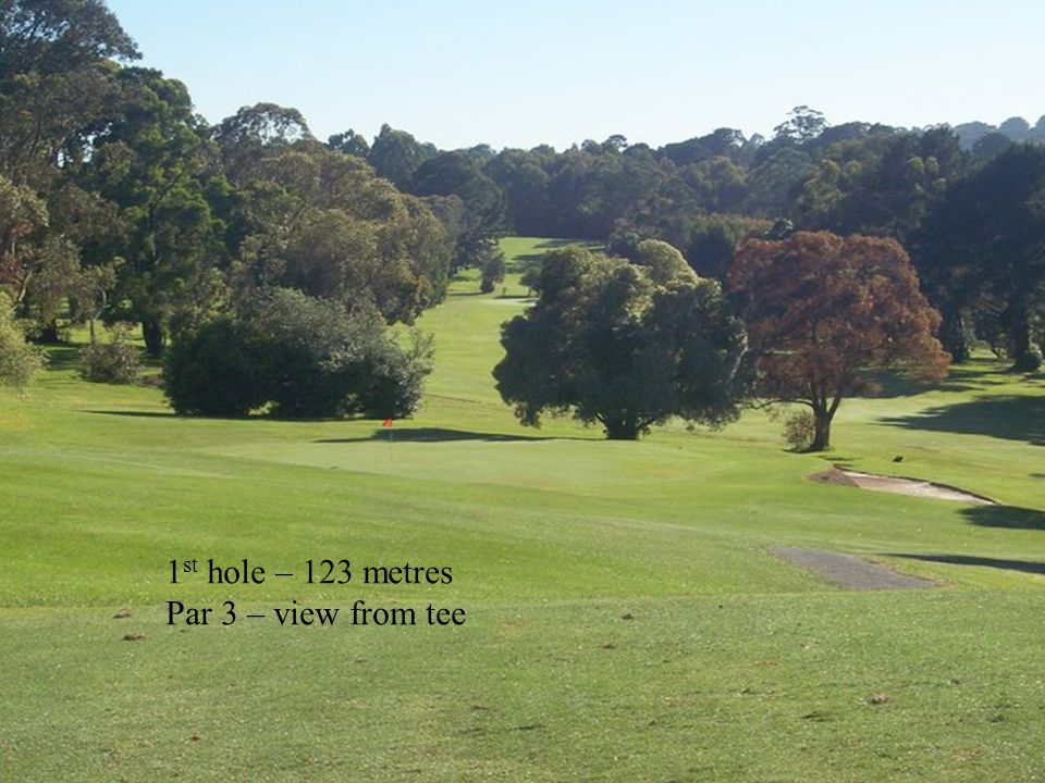 12 th hole – 150 metre approach