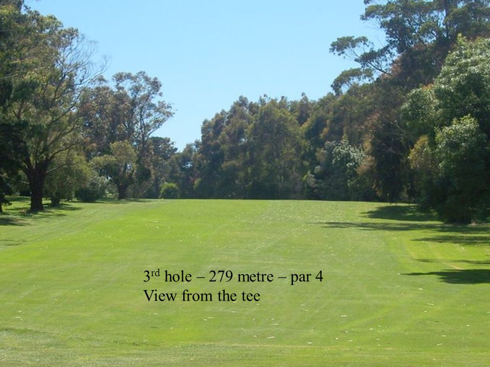 14 th hole – 150 metre approach
