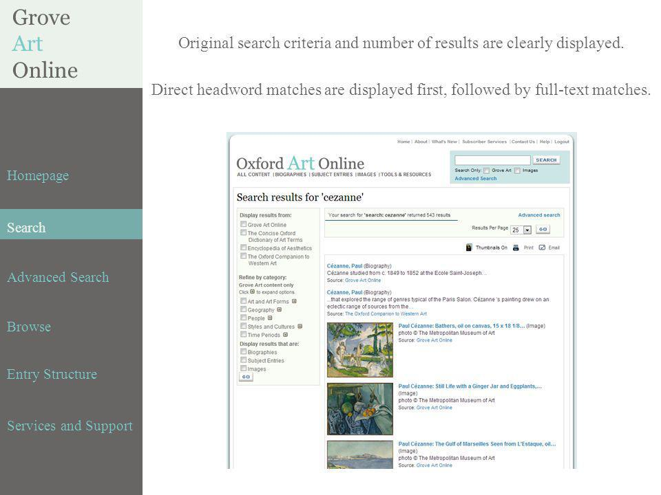 BENEZIT DICTIONARY of ARTISTS Homepage Search Advanced Search Browse Entry Structure Services and Support Original search criteria and number of results are clearly displayed.