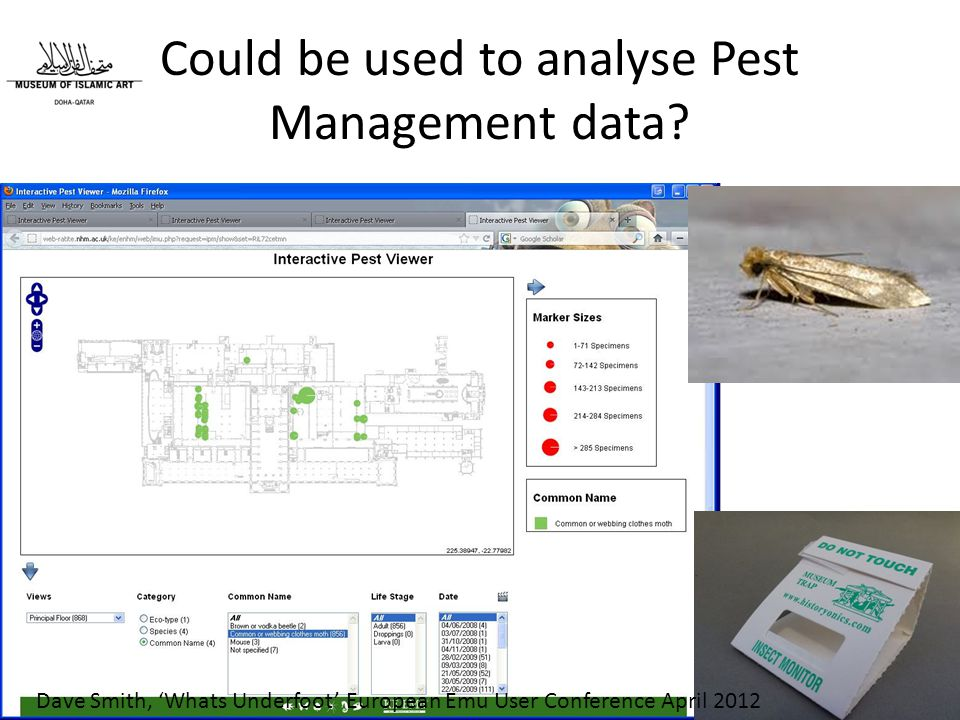 Could be used to analyse Pest Management data.
