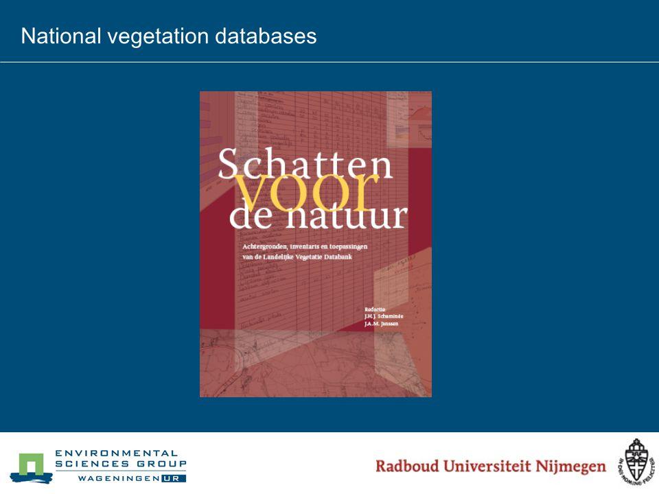 National vegetation databases