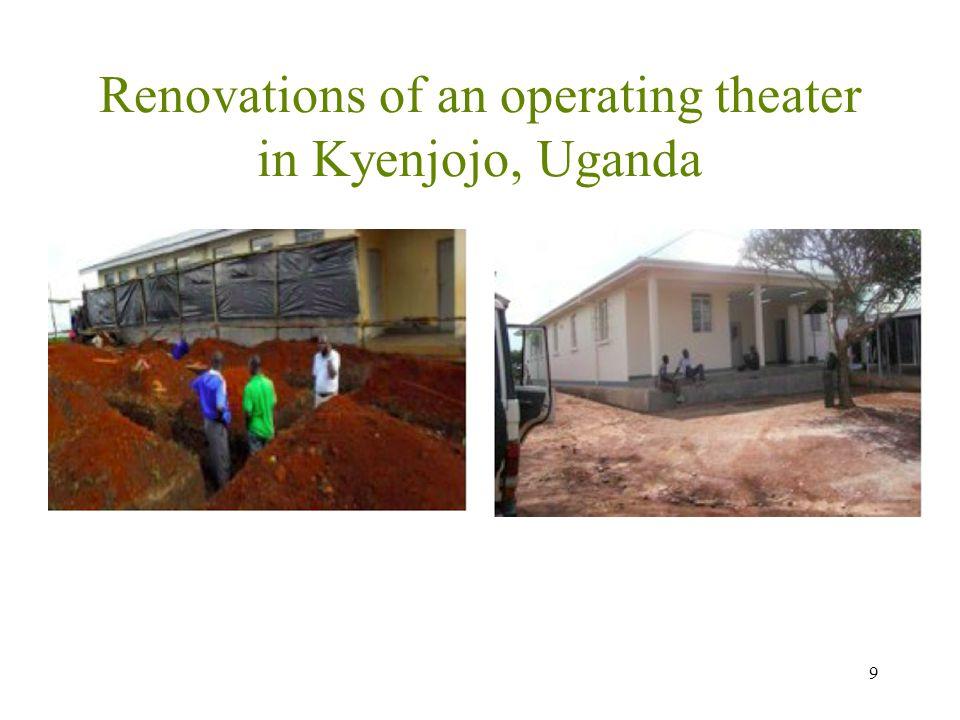 Renovations of an operating theater in Kyenjojo, Uganda 9