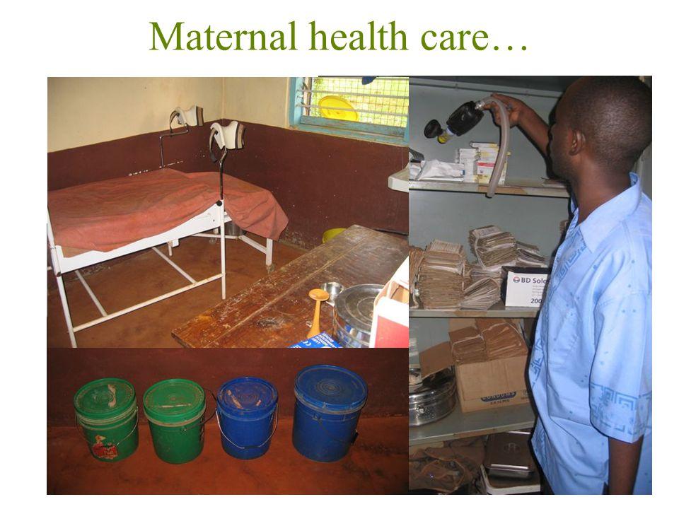 Maternal health care… 20