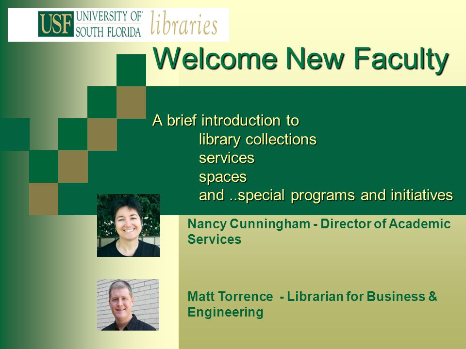 USF Libraries & Partner Affiliates Nelson Poynter Memorial Library USF St.