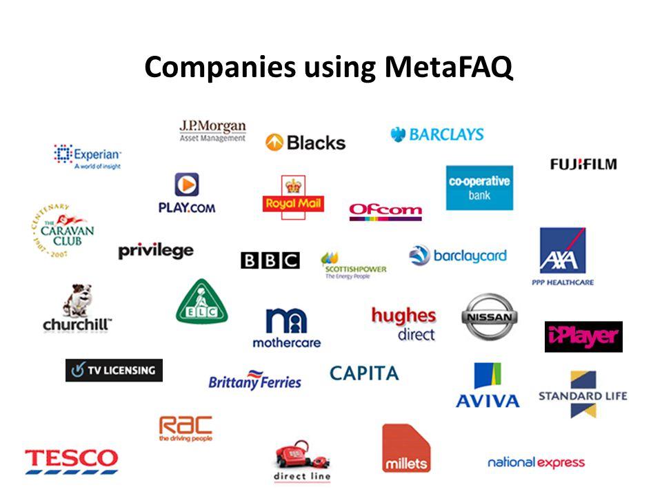 Companies using MetaFAQ