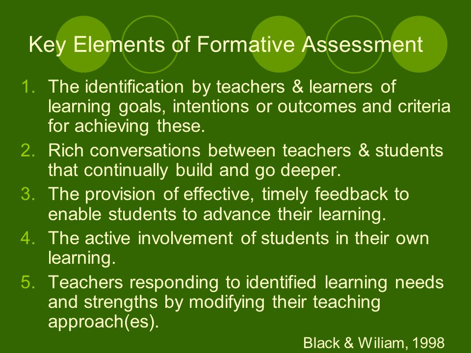 Summative Assessment Assessment of learning Generally taken by students at the end of a unit or semester to demonstrate the sum of what they have or have not learned.