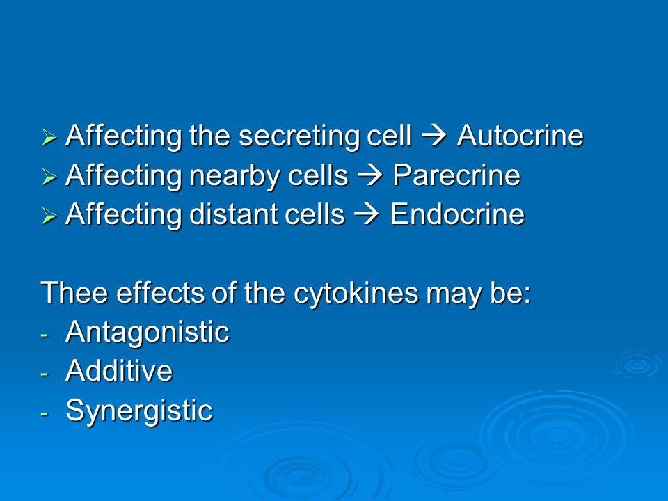 Chemokines  Chemoatractant cytokines 4 types: CCCCXCCX3C