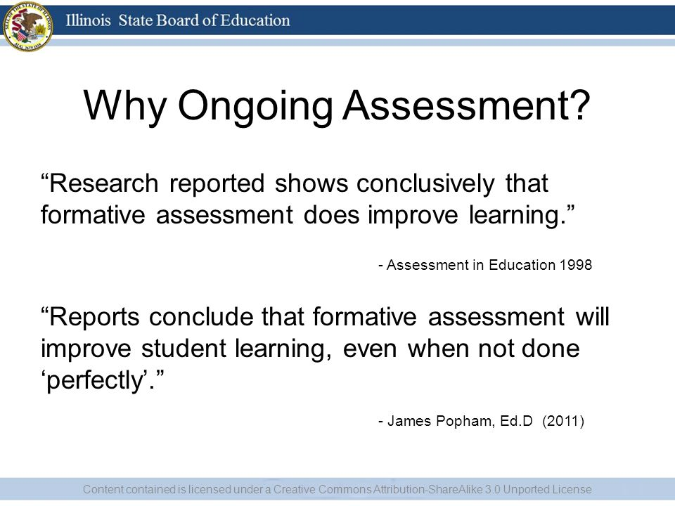 Why Ongoing Assessment.