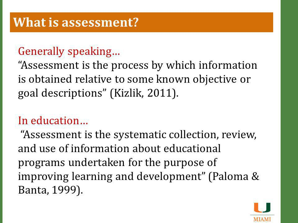 Components of Program Assessment  Mission  Intended outcomes  Assessment measures  Results  Interpretation  Plan for improvement