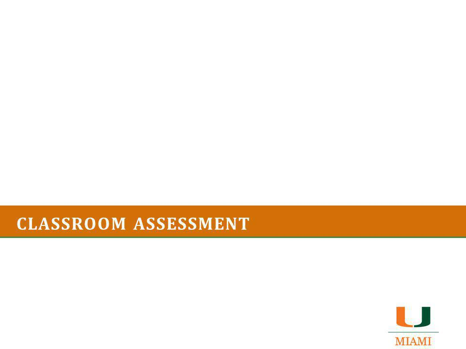 Let's talk a bit about your own experiences with classroom assessment.
