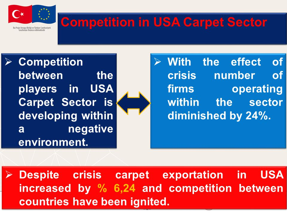 Competition in USA Carpet Sector  Competition between the players in USA Carpet Sector is developing within a negative environment.