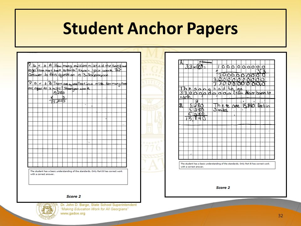 Student Anchor Papers 32